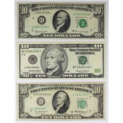 $10.00  FEDERAL RESERVE NOTES: STAR NOTES