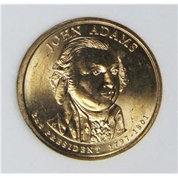 JOHN ADAMS 2007 MINT ERROR DOLLAR
