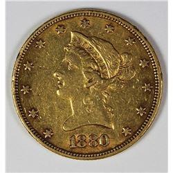 1880 $10 GOLD LIBERTY
