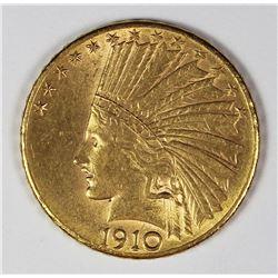 1910-D $10.00 GOLD INDIAN