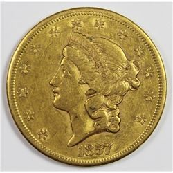 1857-S $20 GOLD TYPE 2