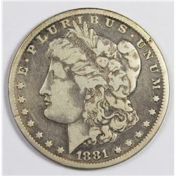1881-CC MORGAN SILVER DOLLAR