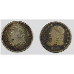 TWO BUST HALF DIMES