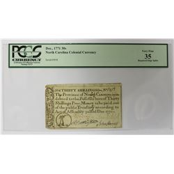 DECEMBER 1771 30 SHILLING COLONIAL CURRENCY