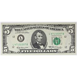 1969-B $5.00 SAN FRANCISCO FEDERAL RESERVE NOTE