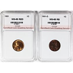 TWO LINCOLN CENTS