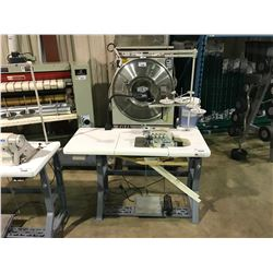 JUKI MO-6814S CLASS BE6-40H COMMERCIAL ELECTRONIC 4-THREAD OVERLOCK DOUBLE NEEDLE SERGER