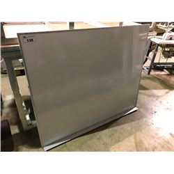 VIS 60 W X 48 H COMMERCIAL MAGNETIC WHITE BOARD