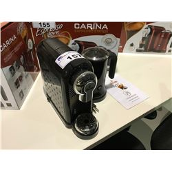 """UNEEK BRANDS"" BLACK CAFFE CAGLIARI CARINA ESPRESSO MACHINE WITH MILK FROTHER ( DISPLAY NOT IN BOX"
