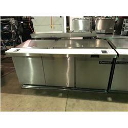 CONTINENTAL SW72-30M 3 DOOR, 2 SECTION STAINLESS STEEL MOBILE COMMERCIAL SANDWICH PREPARATION