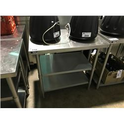 "STAINLESS STEEL 24""D X 36""W X 36""H 3 TIER PREPARATION TABLE"