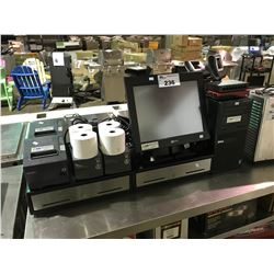 NCR COMMERCIAL POINT-OF-SALE SYSTEM WITH 2 AMETEK POWERVAR APCS, 3 EPSON RECEIPT PRINTERS, 2