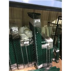 "GREEN 24""D X 60""W X 87""H ""METRO"" STYLE COMMERCIAL 4 TIER RACKING SYSTEM"