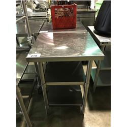 "STAINLESS STEEL 24""D X 24""W X 36""H 3 TIER PREPARATION TABLE"