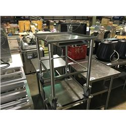 "STAINLESS STEEL 27""D X 22""W X 31""H MOBILE EQUIPMENT STAND"