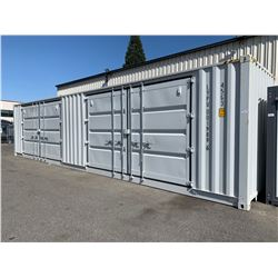 BRAND NEW 40FT STORAGE SHIPPING CONTAINER WITH 2 DOUBLE DOOR SIDE DOORS