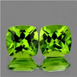 Natural Green Peridot Pair (Flawless-VVS1)
