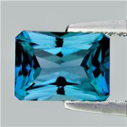 Natural  AAA  Cambodian Blue Zircon 3.80 Ct - FL