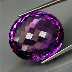 Natural Amethyst Oval Checkerboard 56.78 Ct - Untreated