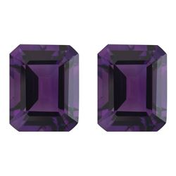 Natural Emerald Cut Amethyst Pair 20.01 Carats - VVS