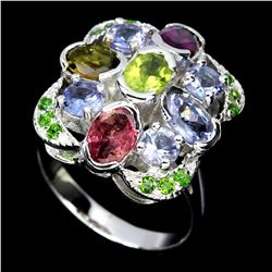 Natural Tanzanite & Mix Gem Ring