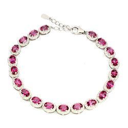 Natural AAA Pink Topaz 6x4mm 66.86 Ct Bracelet