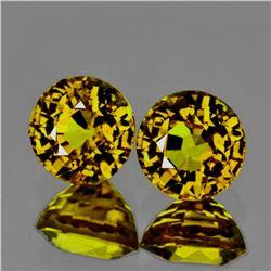 Natural AAA Yellow Mali Garnet Pair 5.50 MM - Flawless