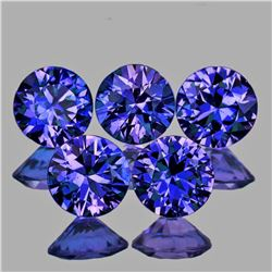 Natural Violet Blue Sapphire 3.30 MM 5 Pcs - Untreated