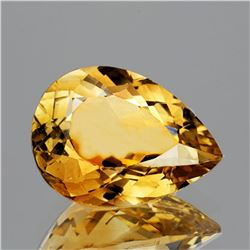 Natural Pear Golden Yellow Citrine 15x10 MM - Flawless