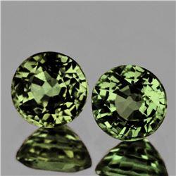 Natural AAA Fire Green Sapphire Pair VVS