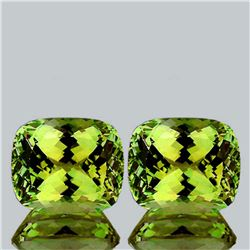 Natural AAA Green Gold Lemon Quartz Pair 12 x10 MM