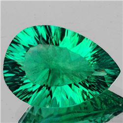 Natural Emerald Green Blue Fluorite 14.13 Ct - Flawless