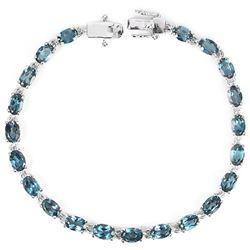 Natural London Blue Topaz 62 Carats Bracelet