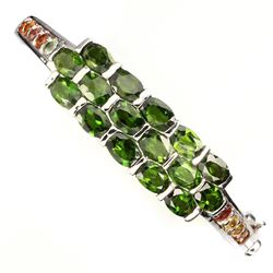 Natural Chrome Diopside Sapphire 77.70 Cts Bangle