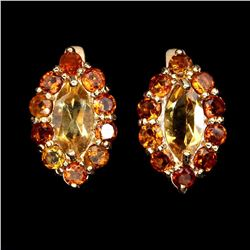 Natural Top Rich Yellow Citrine Earring