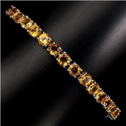 Natural Round 5mm Top Rich Yellow Citrine Bracelet