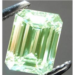 DAZZLING SPARKLING 3.88 CT MINT GREEN DIAMOND