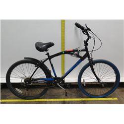 "Kent Bayside 26"" Men's Comfort Black & Blue Cruiser Bike"