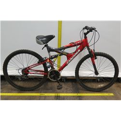 Magna RX Pro Linear Pull Red 21 Speed 2X Dual Suspension Mountain Bike