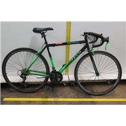 Kent Roadtech 700C Men's Black Green Road Bike w/ Racing Handlebars