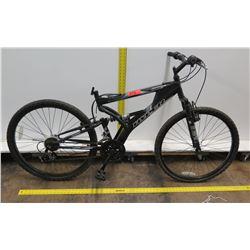 Hyper Havoc FS 26  Men's Black Full Suspension Mountain Bike (No Seat)