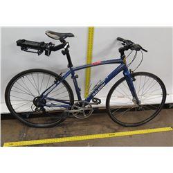 Raleigh Cadent Blue Atomic 13 SL Aluminum Hybrid Bike w/ Back Rack