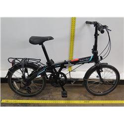 Dahon Vybe D7 Folding 7-Speed Black Aluminum Bike w/ Back Rack
