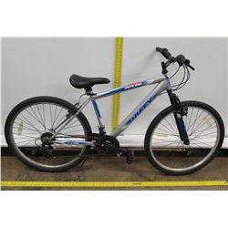 "Huffy Highland 21-Speed 26"" Silver Blue Men's Mountain Bike"