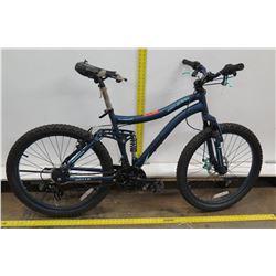 Kent Genesis Bella Vista Girl's Blue Full Suspension Mountain Bike