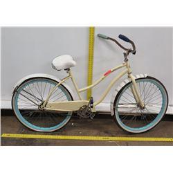 Huffy Good Vibrations Girl's Beige Cruiser Bike w/ Coaster Brakes