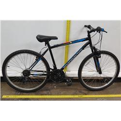 Roadmaster Granite Peak Men's 18 Speed Blue Hybrid Mountain Road Bike