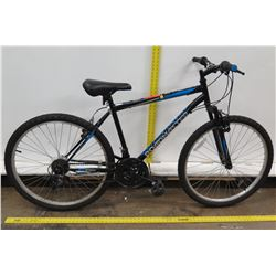 Roadmaster Granite Peak Men's 18-Speed Blue Hybrid Mountain Road Bike