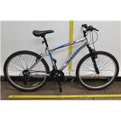 "Huffy Highland 21 Speed 26"" Silver Blue Men's Mountain Bike"