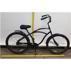 "Hyper HBC 26"" Black Men's Single Speed Cruiser Bike w/ Coaster Brakes"